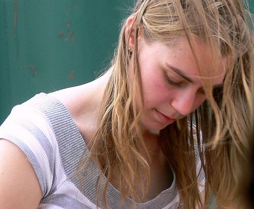 Kunstvermittlung Subvision Hafen City Studentin