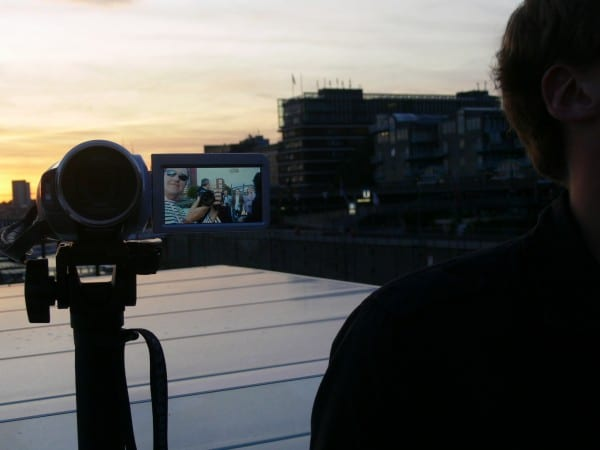 Mark Max with Kodak Camera in Hamburger Hafen