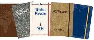5 Hamburg Notiz-Bücher vom Junius Verlag