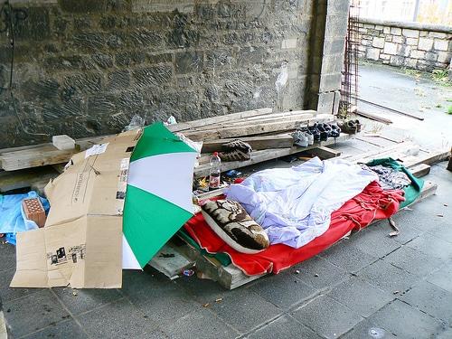 Obdachlos in Hamburg