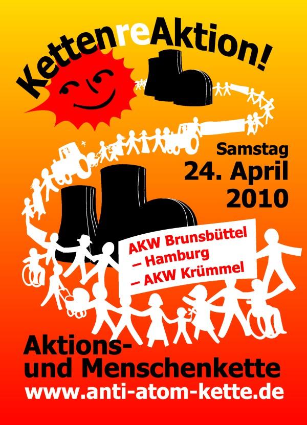 Menschenkette Brunsbüttel – Hamburg – Krümmel