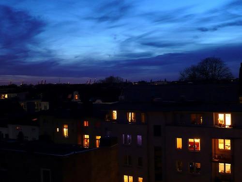 Über den Dächern von Altona Mitte am Bahnhof