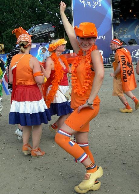 Die Freude von Holland im Fan Park Hamburg
