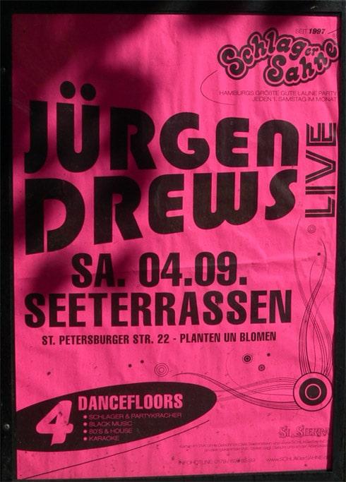 Jürgen Drews in Hamburg in den Seeterrassen Planten un Blomen