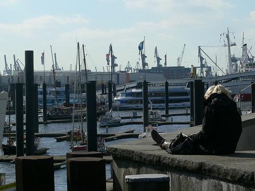 Relaxen am Hamburger Hafen
