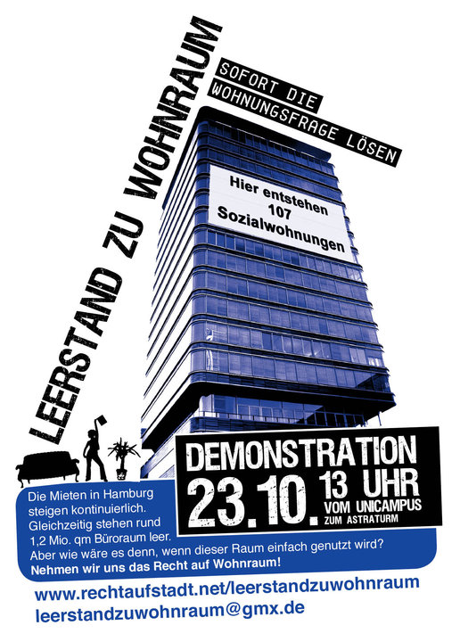 Leerstand zu Wohnraum – Demo am 23.10.2010