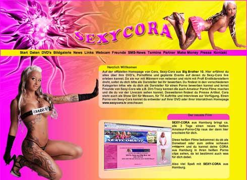 Website und Online-Shop der Sexy Cora aus Hamburg
