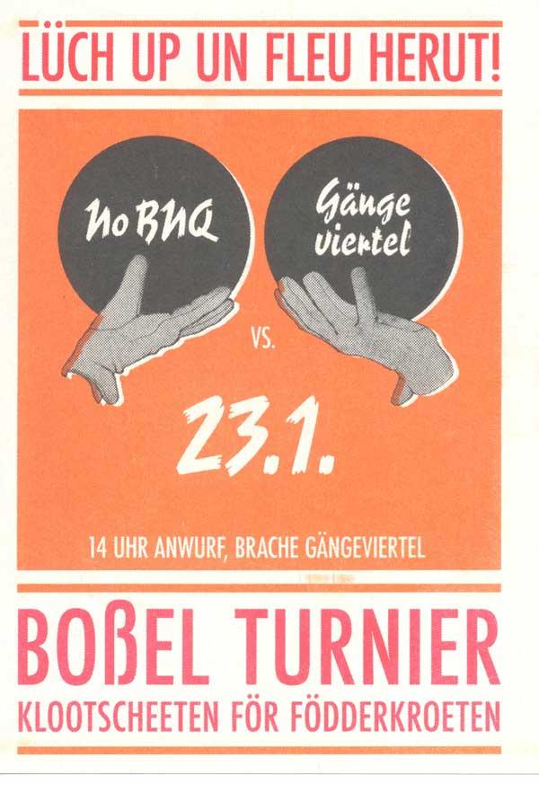Boßel-Turnier No BNQ gegen das Gängeviertel Hamburg