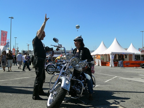 Piepel auf dem Harley Days in Hamburg