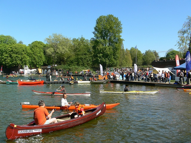Globeboot in Hamburg – Familienfest im Naturbad Stadtparksee