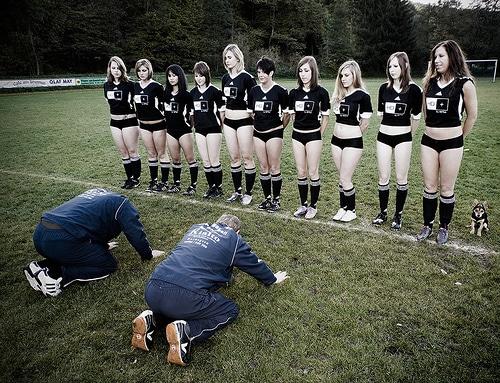 Erstes Frauenfußball Turnier am Hamburger Rothenbaum