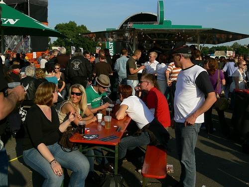 Meeting Piepel aus ganz Deutschland auf den Harley Days in Hamburg