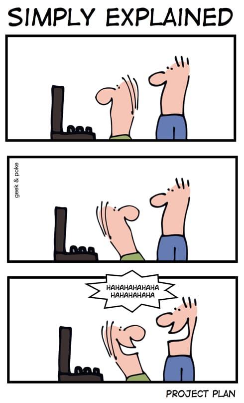 Web DevCon 2011 und Geek & Poke - Simply Explained PROJEKT PLAN