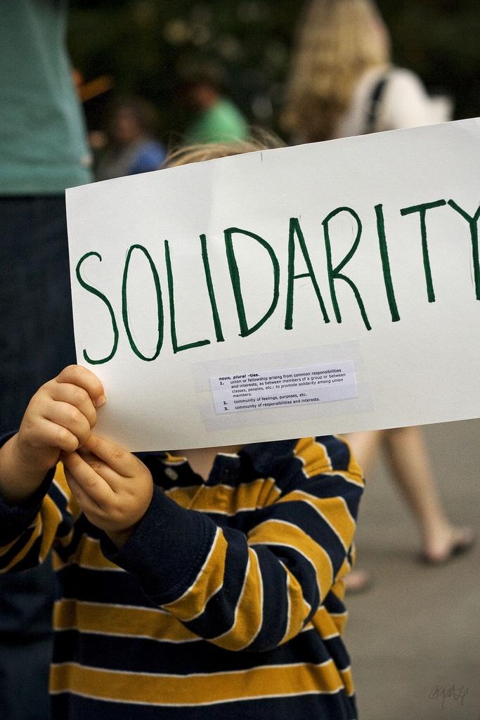 Occupy our Hearts – Occupy Hamburg Demonstration auf dem Gerhart-Hauptmann-Platz