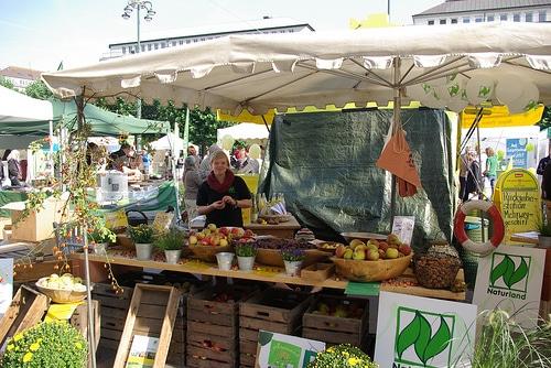 BIOerleben Festival auf dem Hansaplatz in St. Georg