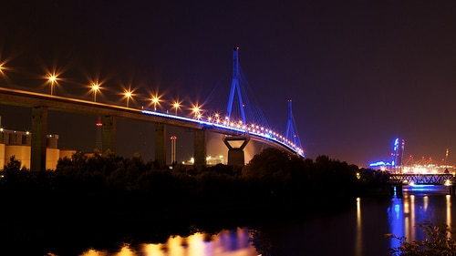 Blue Port: Köhlbrandbrücke von Stephan Malicke