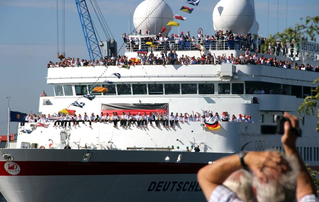 Fantastischer Empfang der deutschen Olympiamannschaft in Hamburg