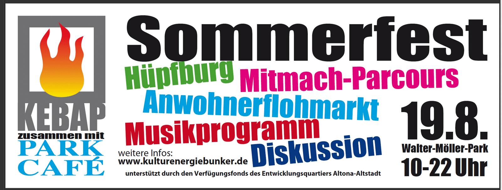Sommerfest in Altona im Walter-Möller-Park