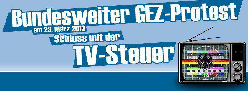 Protest gegen die neuen GEZ-Gebühren am 23.3.13 auf dem Hamburger Rathausmarkt