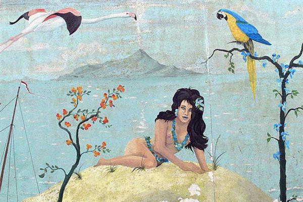Sommerhalbjahr - Wandgemaelde im Hamburger Hafen