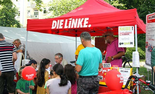 Die Linke im Straßenwahlkampf 2013 in Hamburg