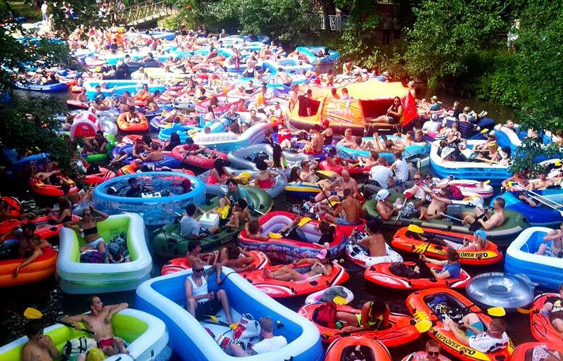 Event-Idee für Hamburg: Das finnische Beer Floating auf der Alster