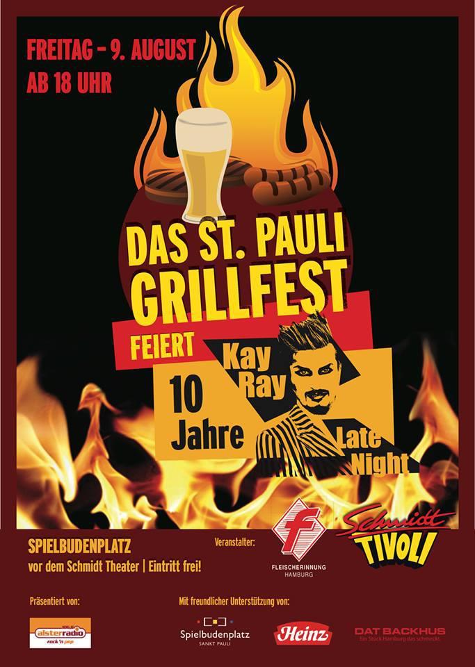 Das St. Pauli Grillfest auf dem Spielbudenplatz vom Schmidt-Theater