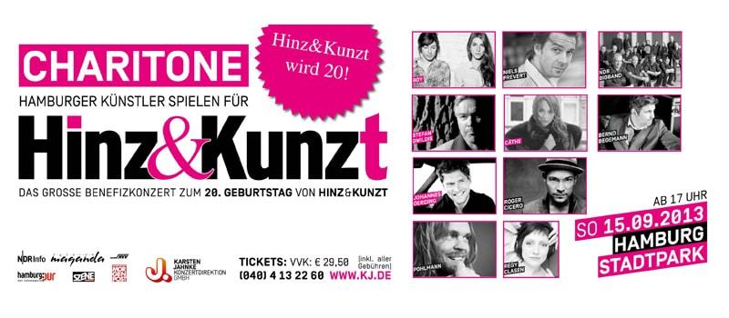 Charitone – Benefitz-Konzert für Hinz&Kunzt im Stadtpark