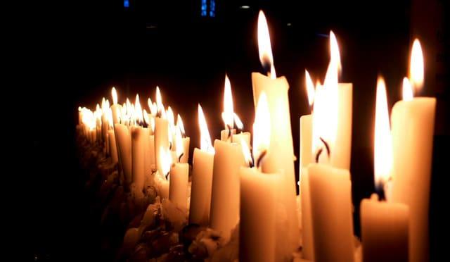Kerzen in St. Petri, Hamburg
