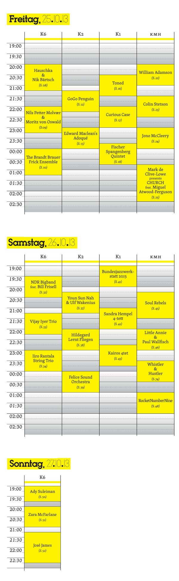 Über Jazz Festival Hamburg 2013 Timetable