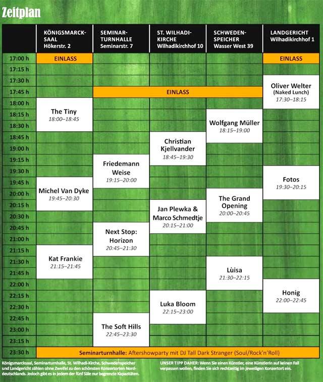 Konzerte Hanse Song Festival 2014