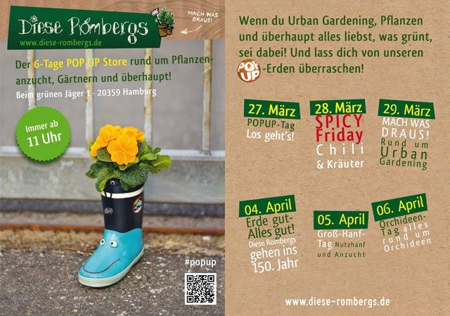 urban gardening 6 tage romberg pop up stores in der. Black Bedroom Furniture Sets. Home Design Ideas