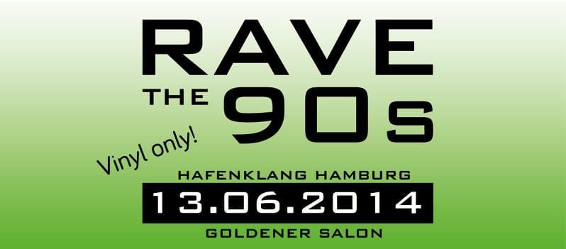 Gewinnt 2×2 Karten für RAVE THE 90s – Hafenklang – Goldener Salon Hamburg