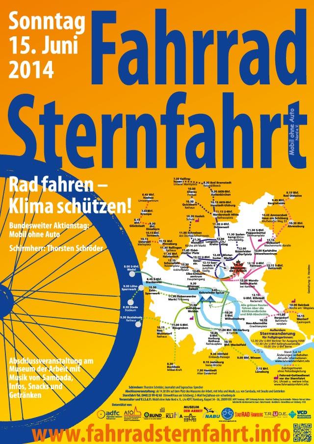 Fahrradsternfahrt Hamburg - Rad fahren, Klima schützen!