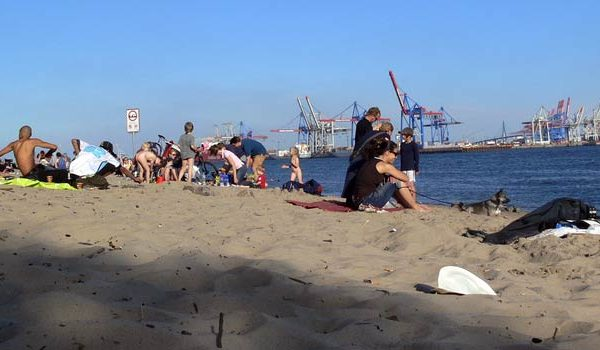 Urlaub in Hamburg am Elbstrand