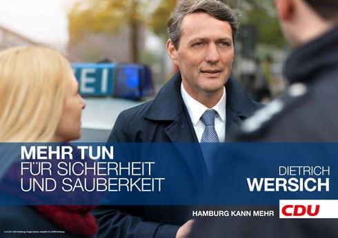 Hamburger Wahlkampf-Plakat der CDU