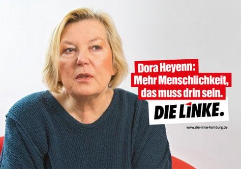 Wahlplakat der LINKEN zur Hamburg-Wahl 2015