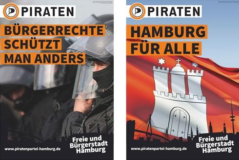 Unterirdisch die Kampagne der Piraten in Hamburg 2015