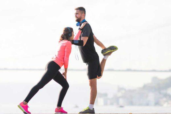 Laufen und rennen