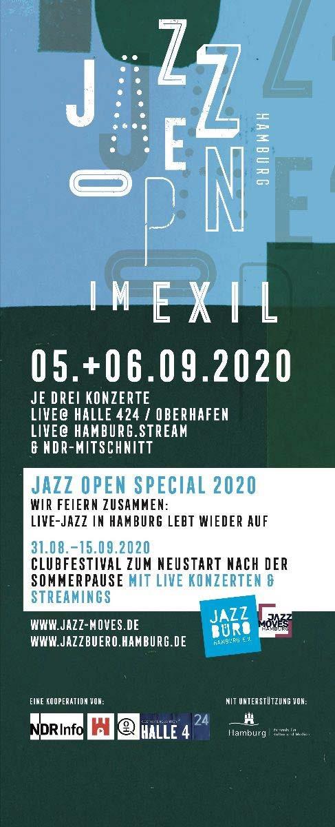 Jazz Open Hamburg im Exil und Jazz Open Special ab dem 31.8.