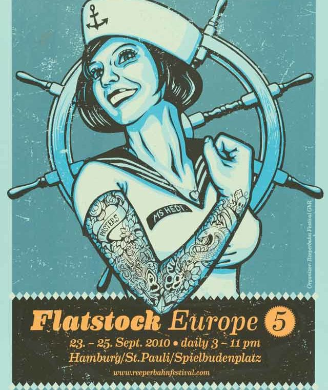 Poster Rock. Gig-Poster und die Flatstock Convention Hamburg