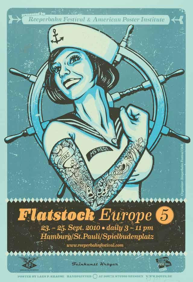 Poster Rock. Gig Poster und die Flatstock Convention im Museum für Kunst & Gewerbe