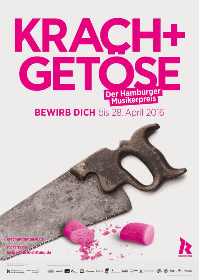 Krach + Getöse Award Vol. 8 – Jetzt bewerben zu Hamburgs coolsten Musikpreis!