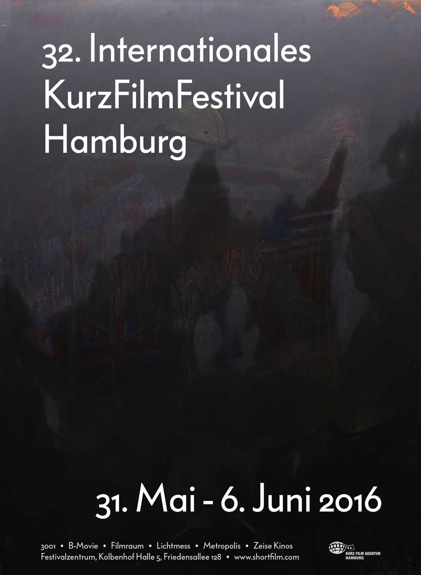Offizielles Plakat des Internationalen Kurzfilmfestivals Hamburg 2016