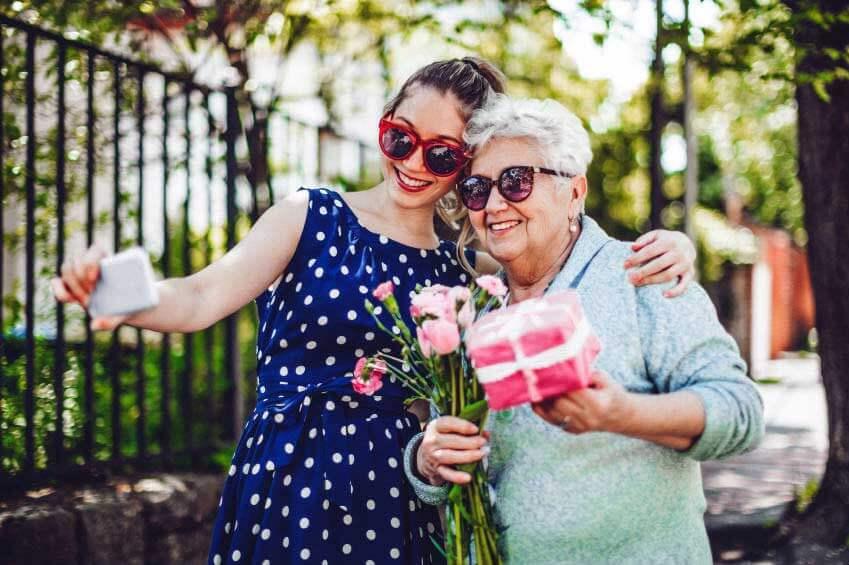Selfi: Geschenke für die Mama