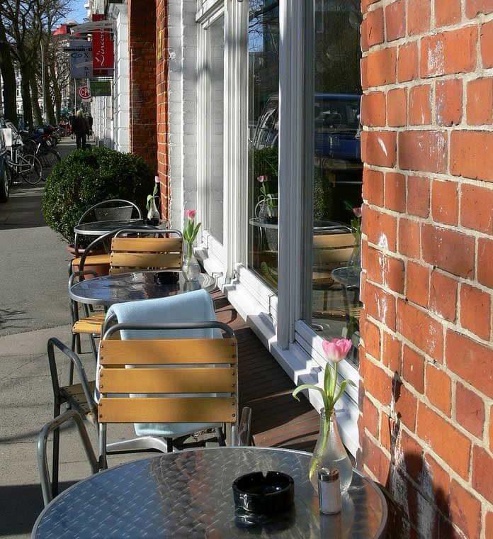 Strassencafe in Hamburg