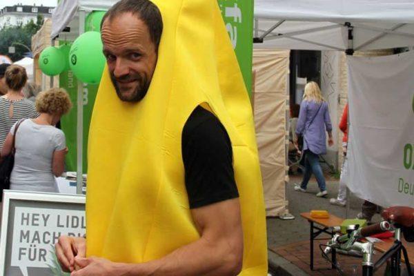Dein Event - auch im wilden Bananenkostüm bekannt machen