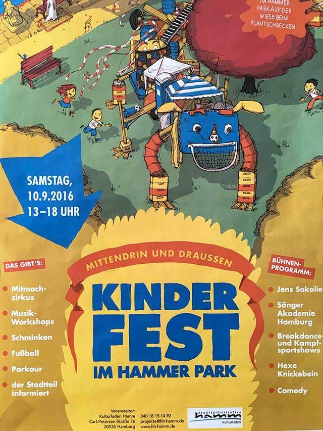 Kinderfest im Hammer Park am Wochenende in Hamburg