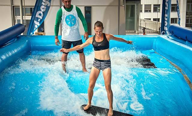 Deutschlands erstes Surf-Café mit den Surf-Days im Beach Hamburg