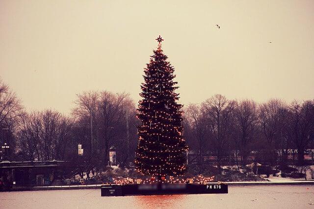 Paul Janke und Uli Pingel verpacken eure Weihnachtsgeschenke in der Europa Passage